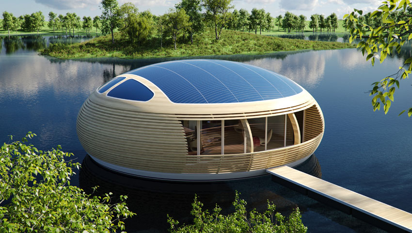WaterNest 100: Una casa flotante 100% eco-amigable